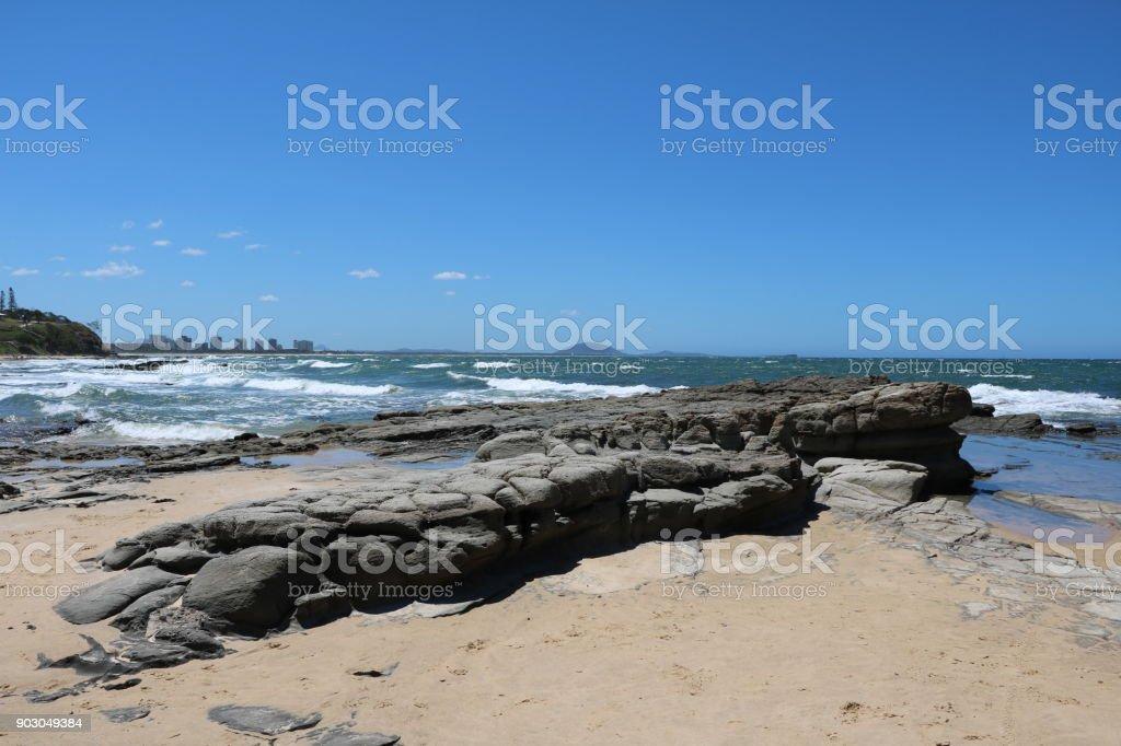Holidays at Sunshine Coast in summer in Queensland, Australia stock photo