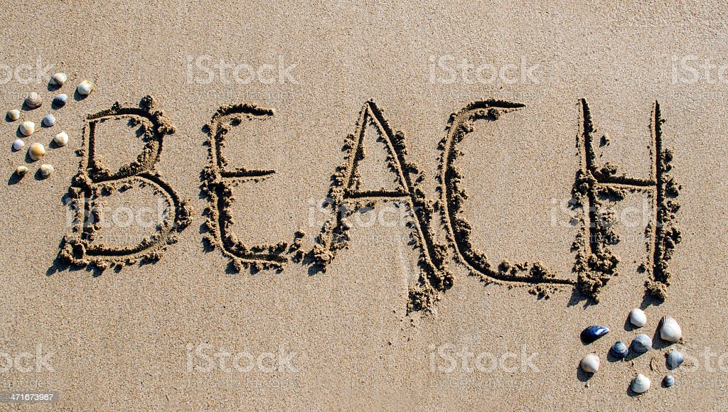 Holidays at the Beach royalty-free stock photo