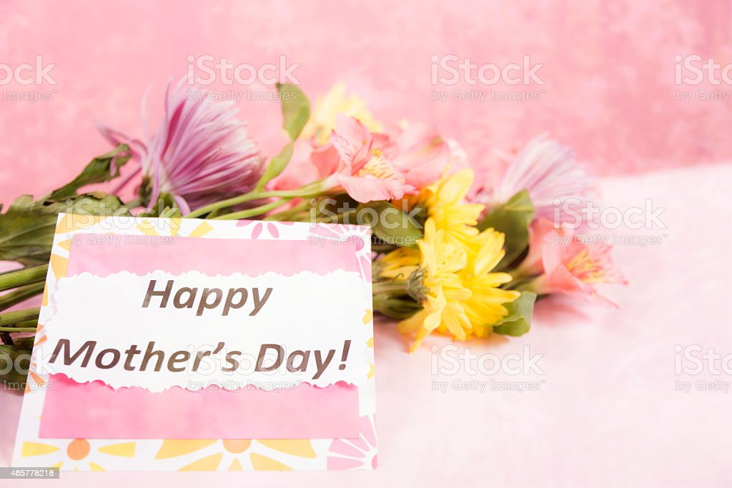 Holidays Bouquet Of Flowers For Mom Mothers Day Gift Card Stock Photo Download Image Now Istock