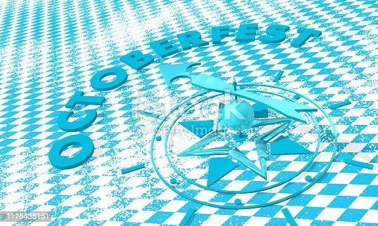 istock Holidays compass concept 1175438151
