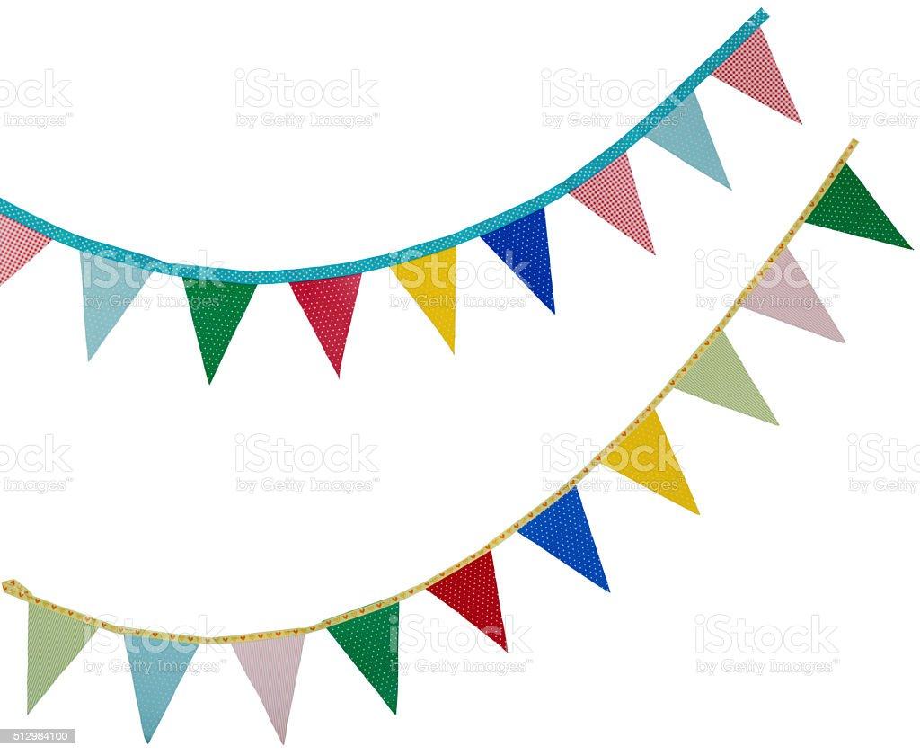 Férias bandeiras em branco - fotografia de stock