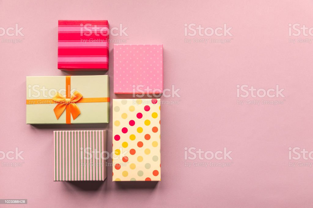 Holidays giftboxes on the pastel mint background for \'nmother\'s day,...