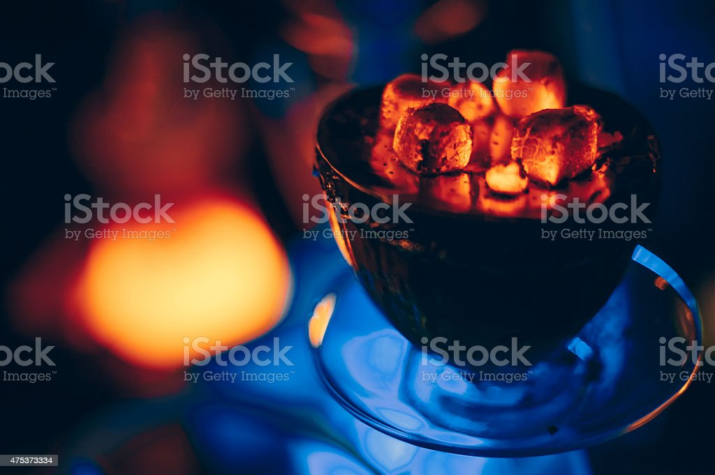 holidays hookah hot coals stock photo