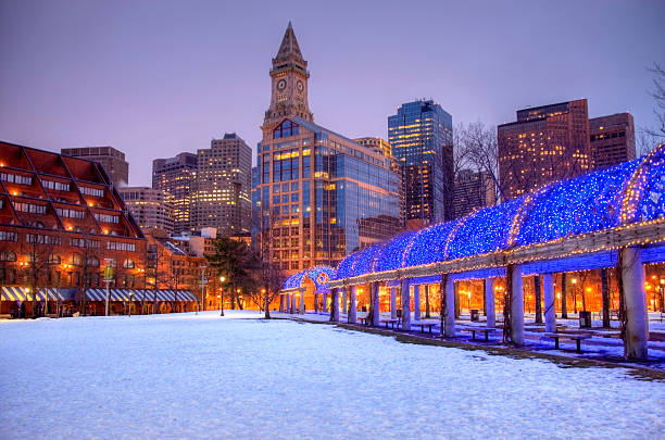 Holidays in Boston stock photo