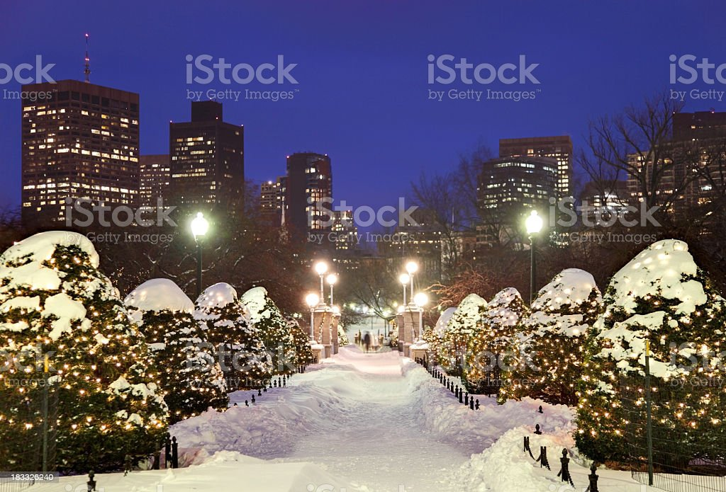 Holidays in Boston stock photo