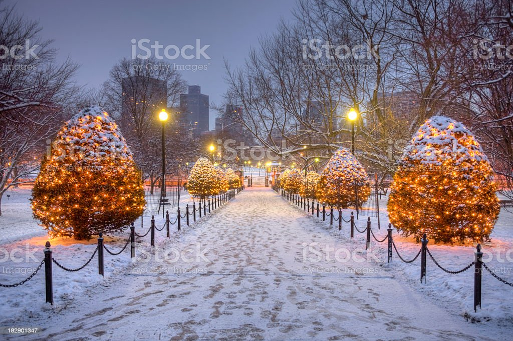 Holidays in Bostron stock photo