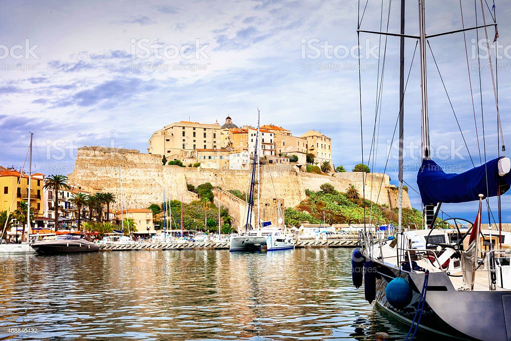 Holidays in corse,France stock photo