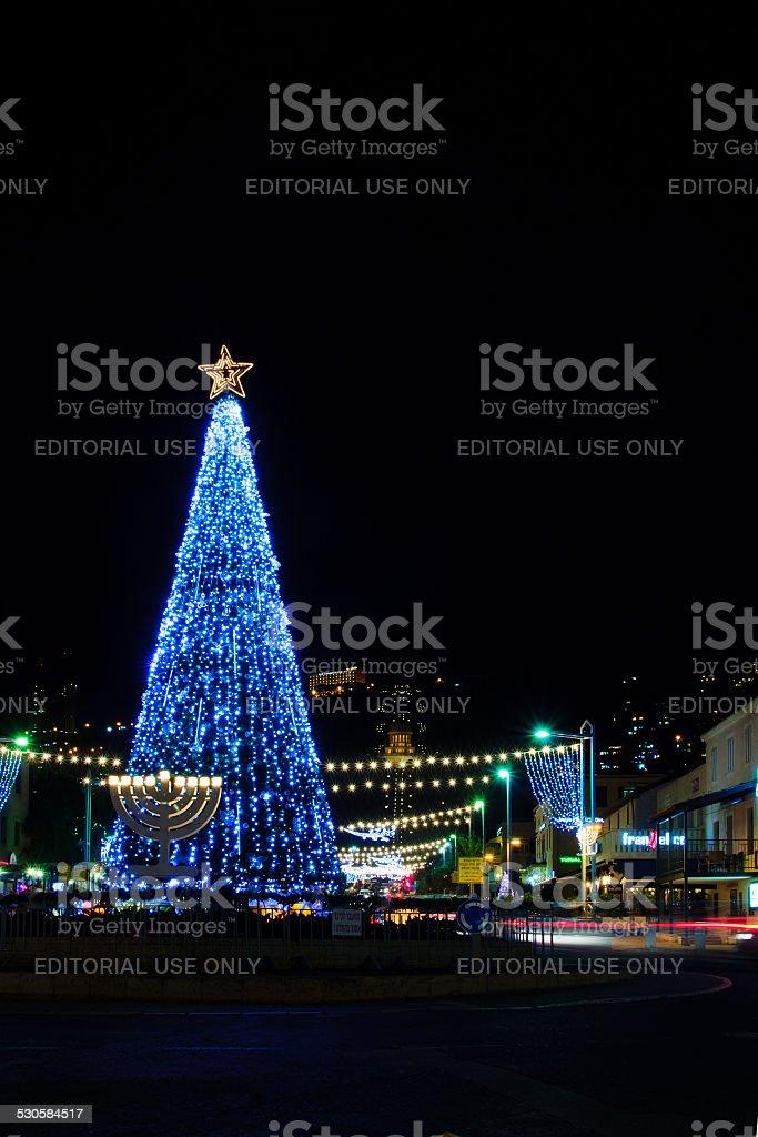 Holidays in Haifa stock photo