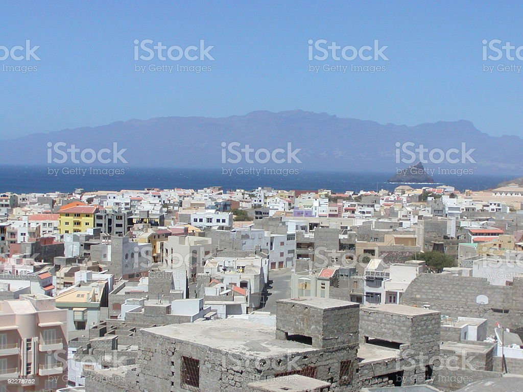 Holidays in Mindelo, Cabo Verde stock photo