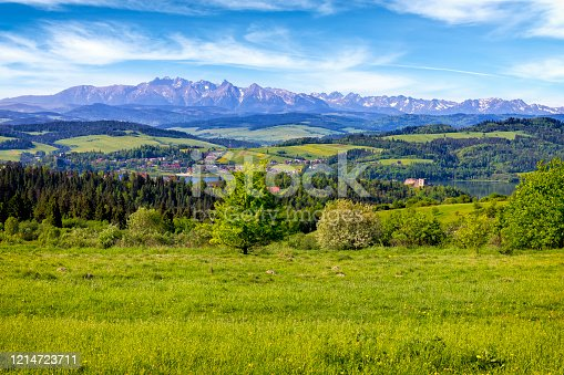 1130859000 istock photo Holidays in Poland - summer view from the Podhale region to the Tatra Mountains 1214723711