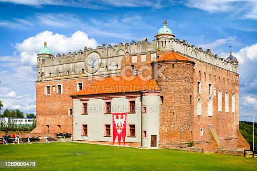 Golub-Dobrzyń, Poland - August 24,2020: Teutonic castle built on the turning point of the thirteenth and fourteenth century in Golub-Dobrzyń, Poland