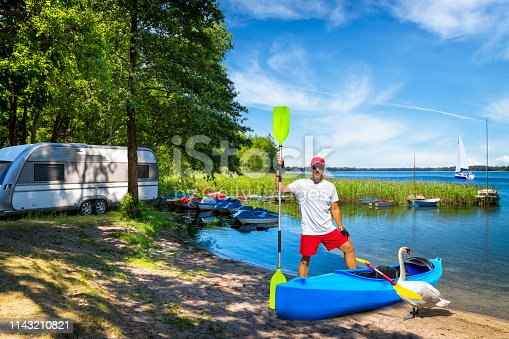Vacations in Poland - Summer view of Insko lake, West Pomeranian Voivodeship, Poland