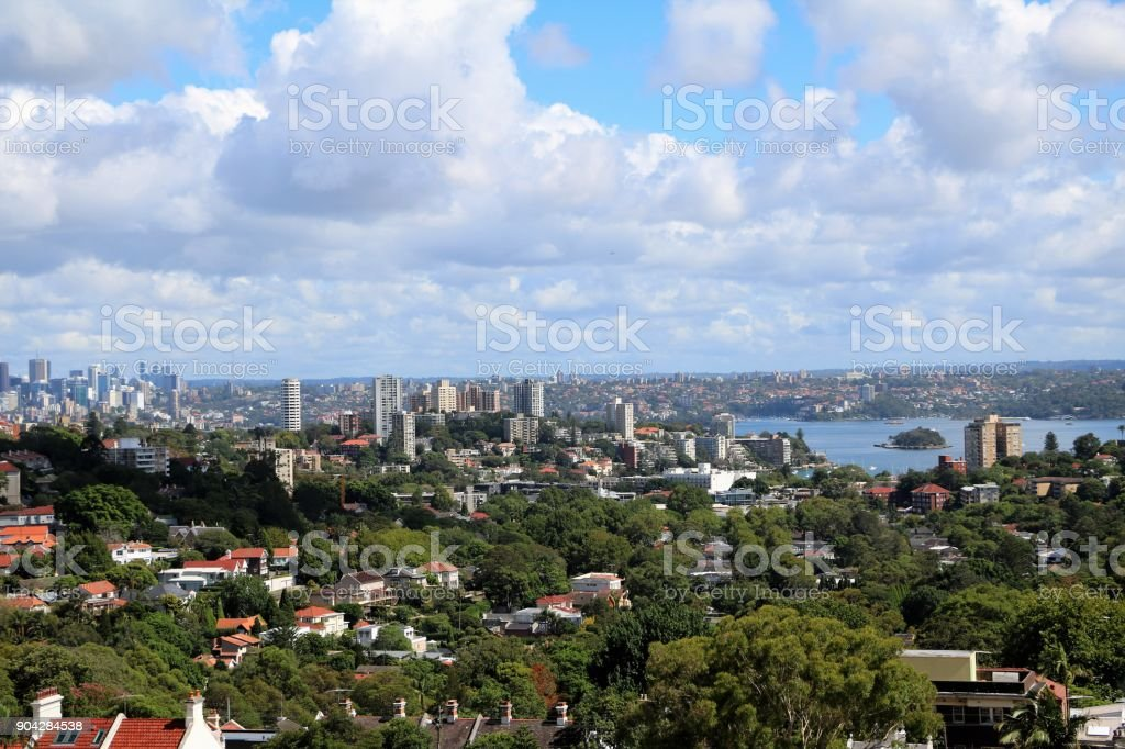Holidays in Sydney view from Bondi Junction, New South Wales Australia stock photo