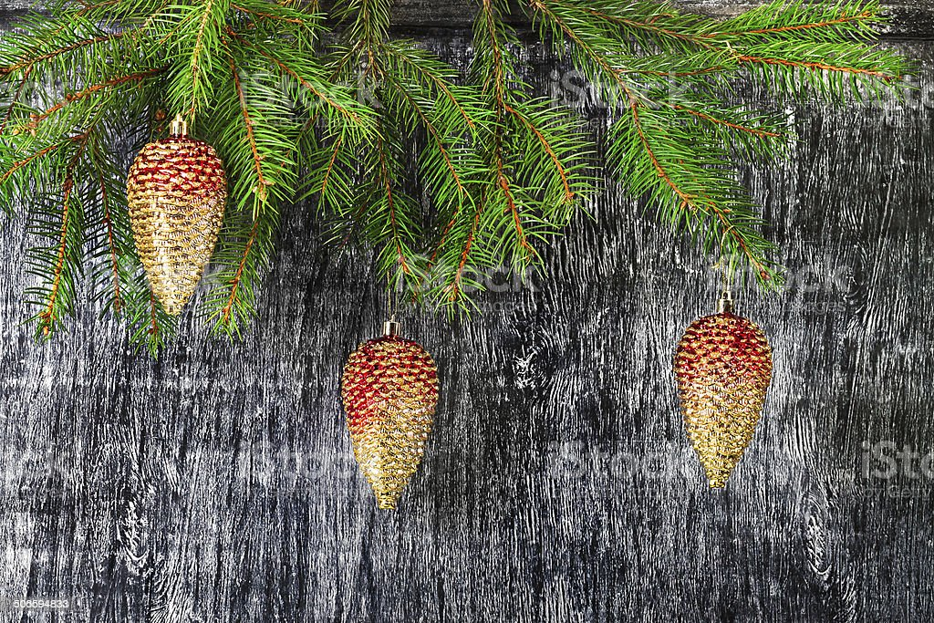 holidays  New Year's and Christmas fir-tree toys royalty-free stock photo