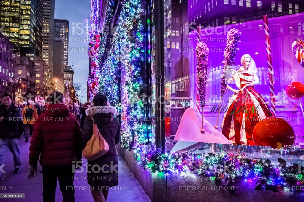 Holidays on Fifth Avenue stock photo