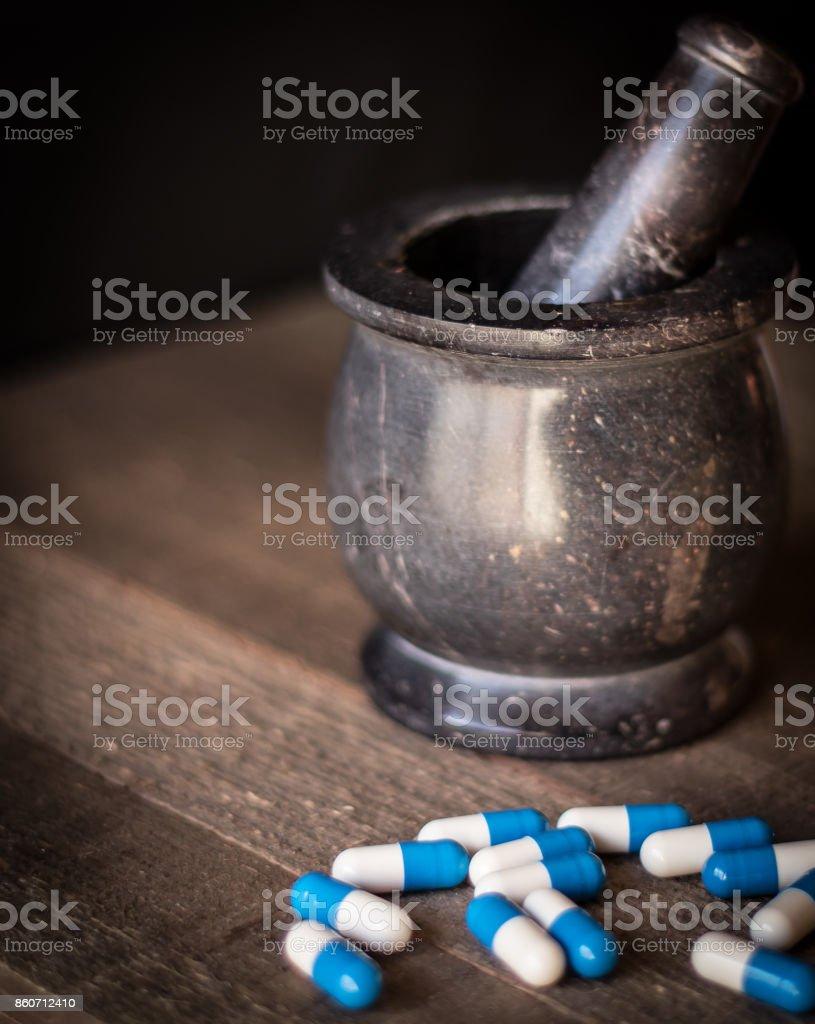 Holistic Pharmacy Meets Modern Medicine stock photo
