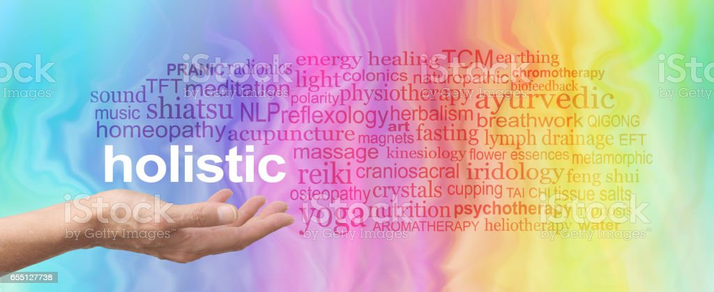 Holistic Therapy Word Cloud stock photo