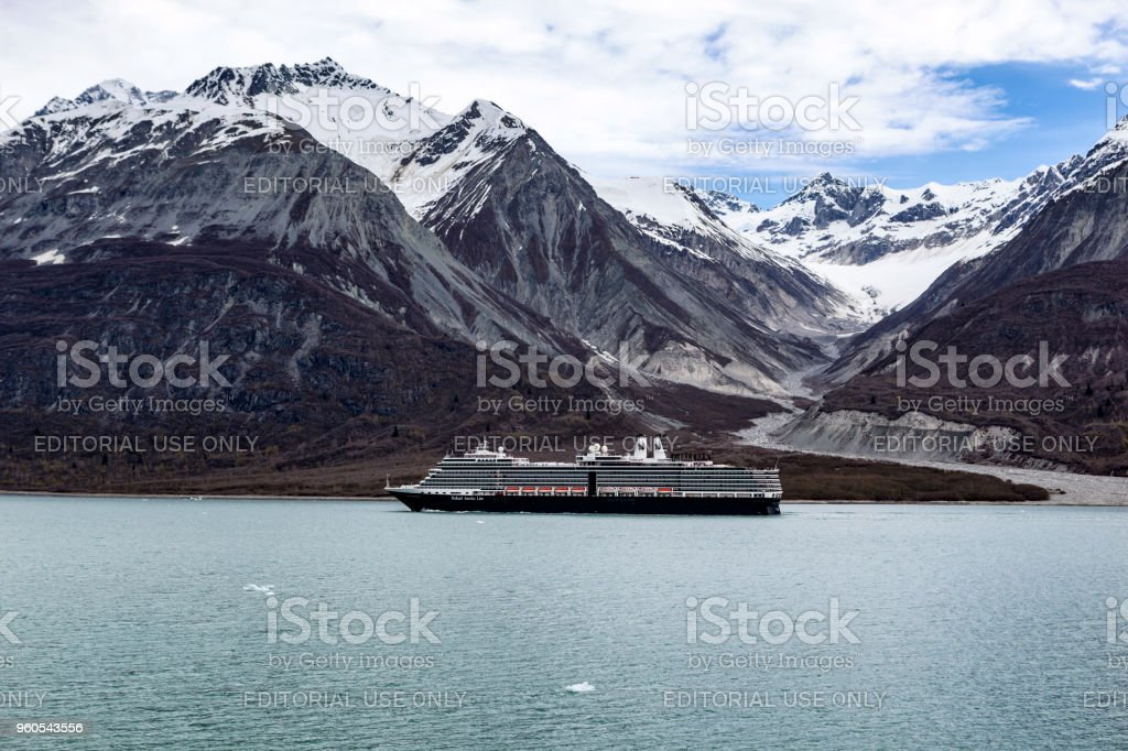 Holland America Line's Nieuw Amsterdam Cruise Ship in Glacier Bay NP stock photo