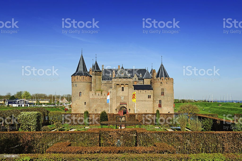 Holland Amsterdam Castle Muilderslot Front View Spring stock photo