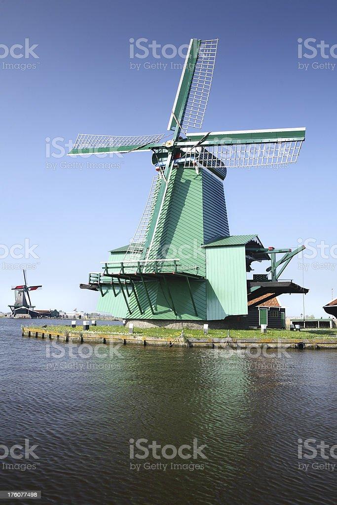 Holland: Dutch Windmills royalty-free stock photo
