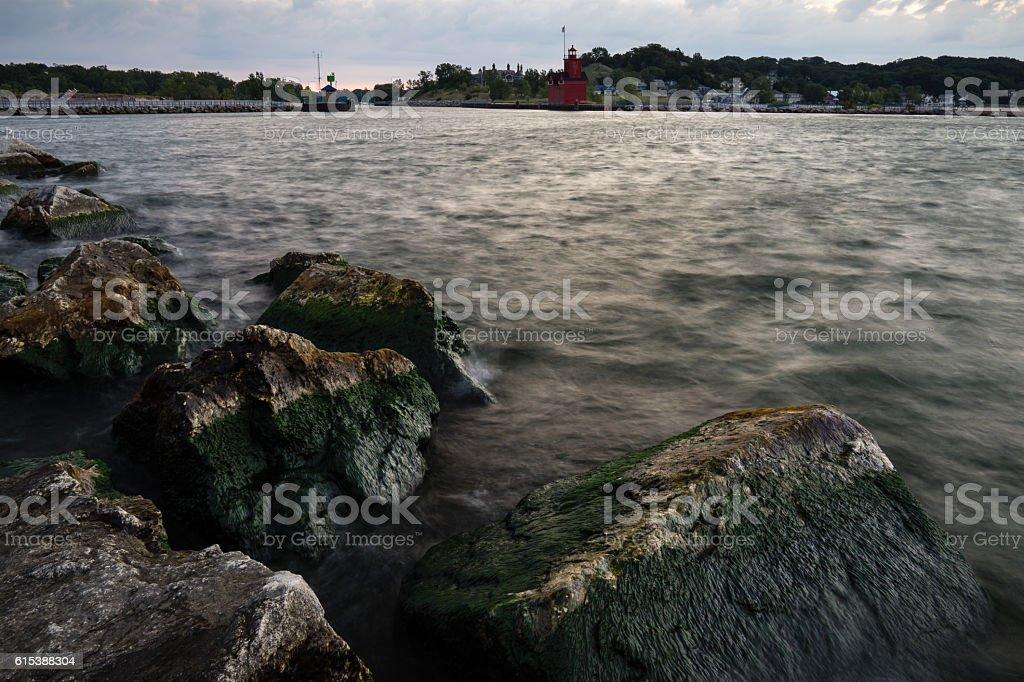 Holland Harbor stock photo