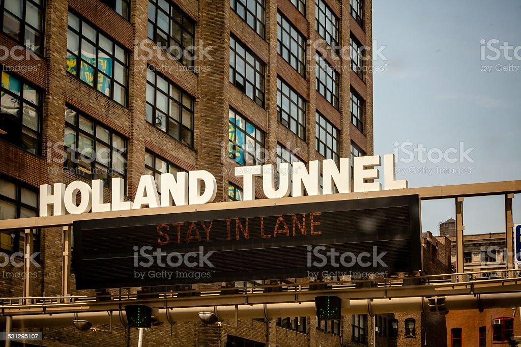 Holland Tunnel stock photo