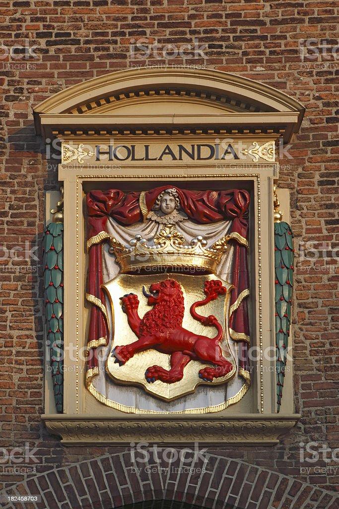 Holland oficial de escudo (1.631 foto de stock libre de derechos