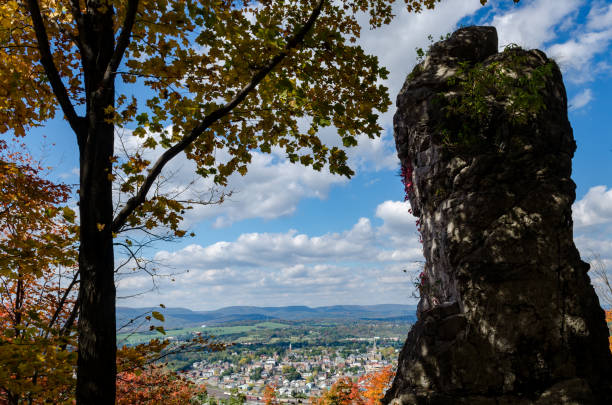 Hollidaysburg Chimney Rocks Autumn Sunny Day Pennsylvania stock photo