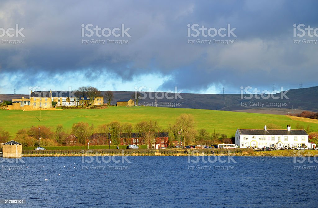 Hollingworth Lake in Rochdale Lancashire stock photo