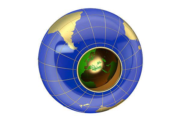 공동 지구별 컨셉입니다 - 속이 빈 뉴스 사진 이미지