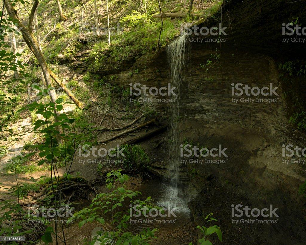 Hollow Falls stock photo