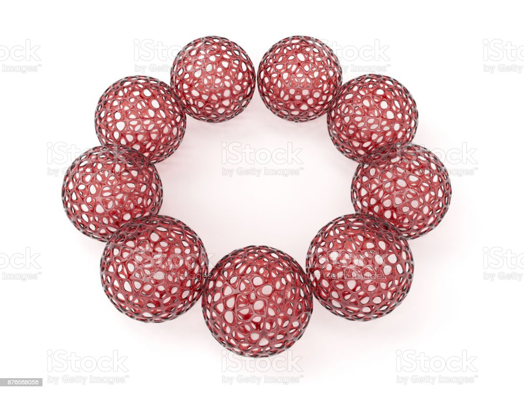 Hollow geometric ball stock photo