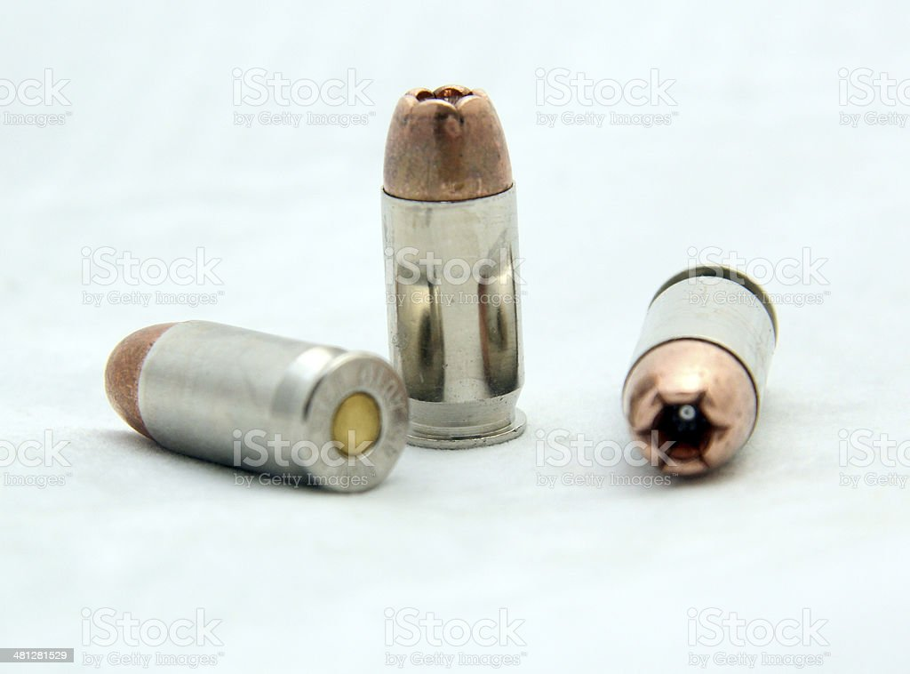 Hollow Point Bullet stock photo