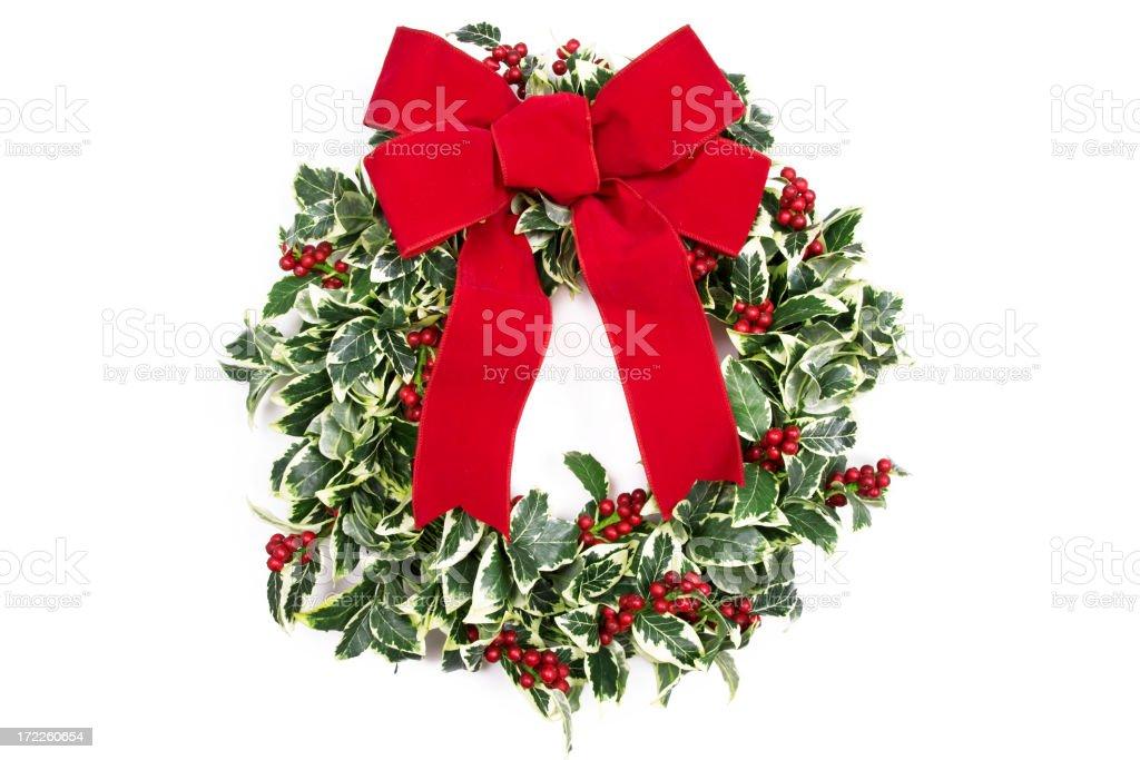 Holly Wreath royalty-free stock photo