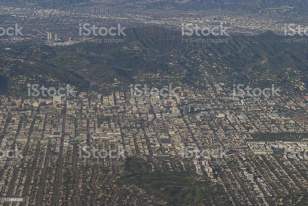Hollywood: Aerial View royalty-free stock photo