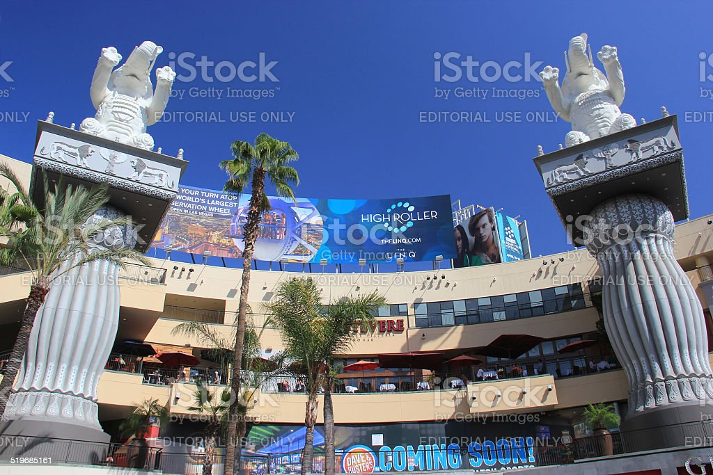 Hollywood and Highland Center, a shopping mall and entertainment stock photo
