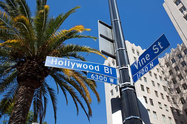 hollywood and vine - hollywood sign bildbanksfoton och bilder