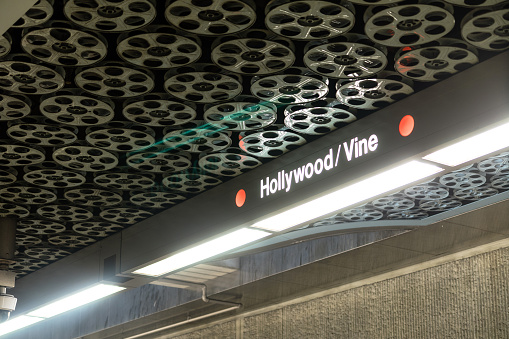 Hollywood and Vine Subway Platform Los Angeles