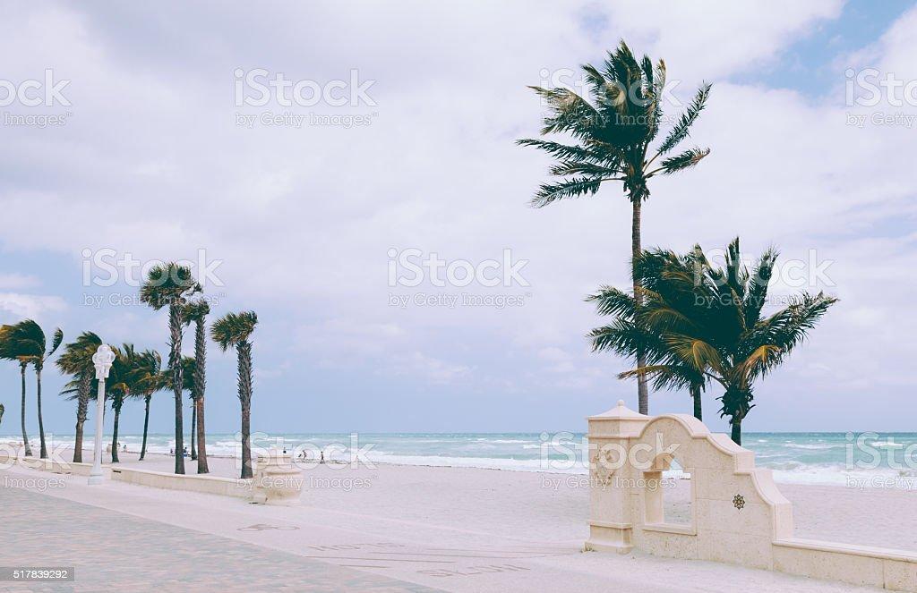 Hollywood Beach Broadwalk, Florida stock photo