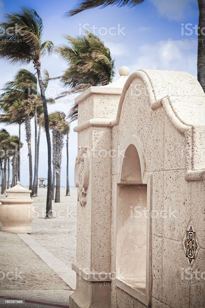 Hollywood Beach Promenade stock photo