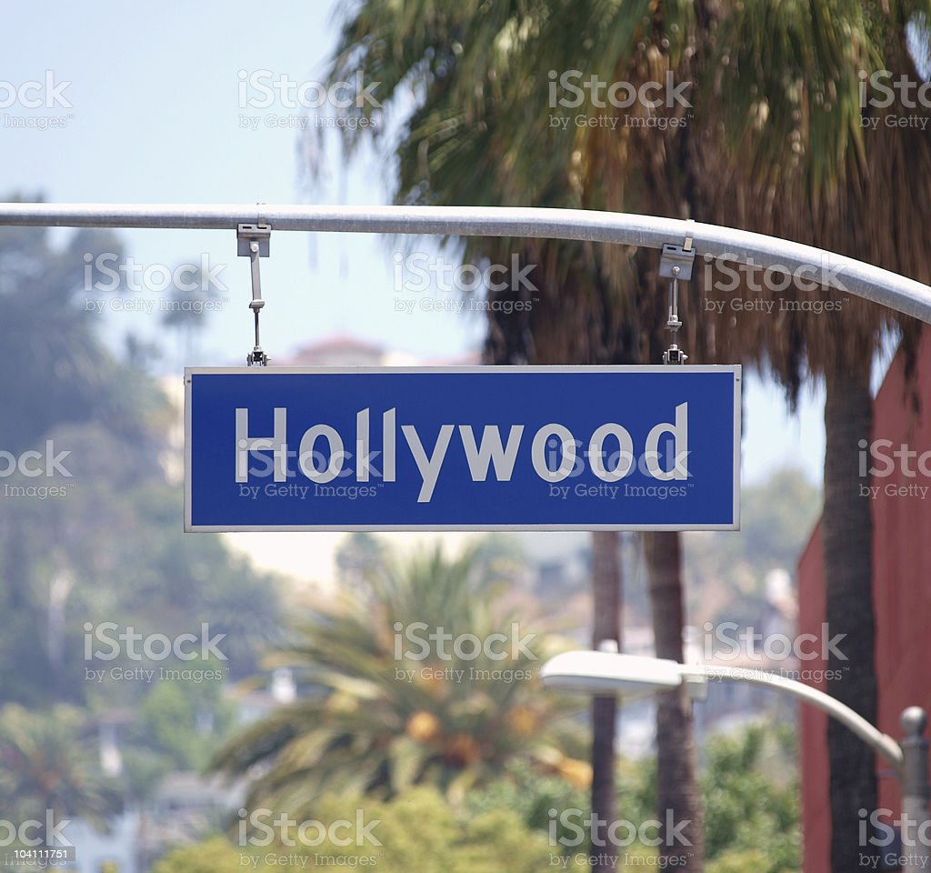 Hollywood Bl Sign royalty-free stock photo