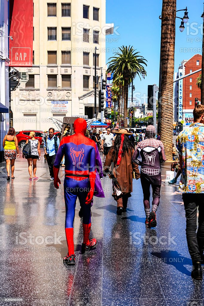 Hollywood Blvd in Los Angeles stock photo