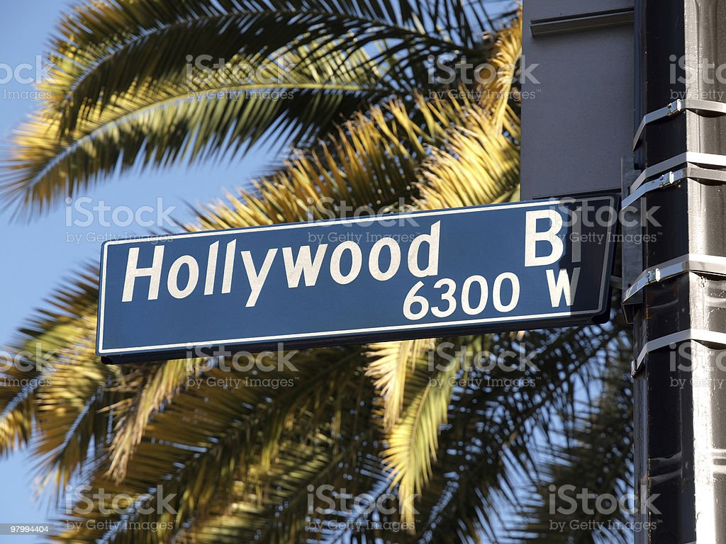 Hollywood Blvd Palms royalty-free stock photo