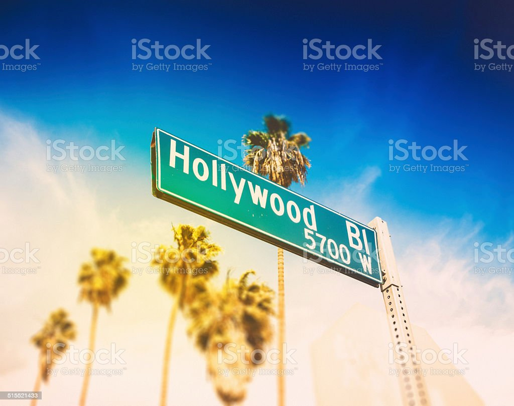 Hollywood Blvd stock photo