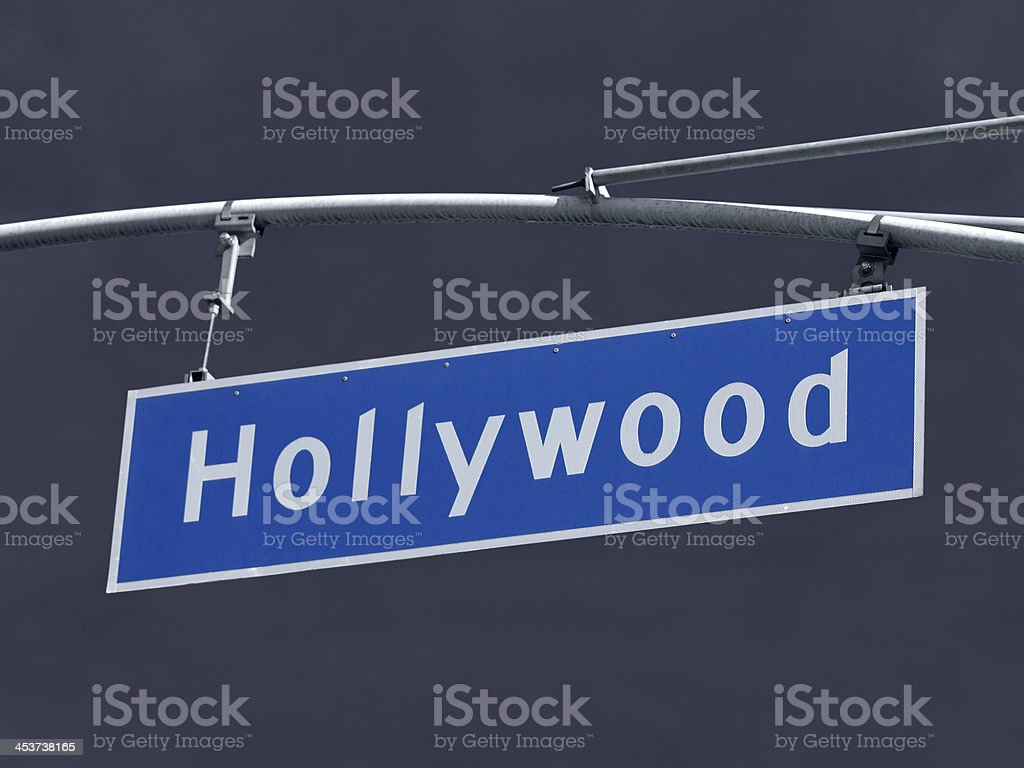 Hollywood Blvd Sign with Storm Sky royalty-free stock photo