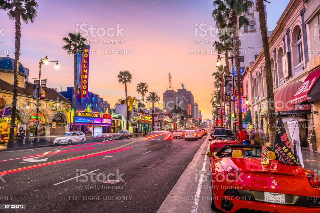Hollywood Boulevard California stock photo
