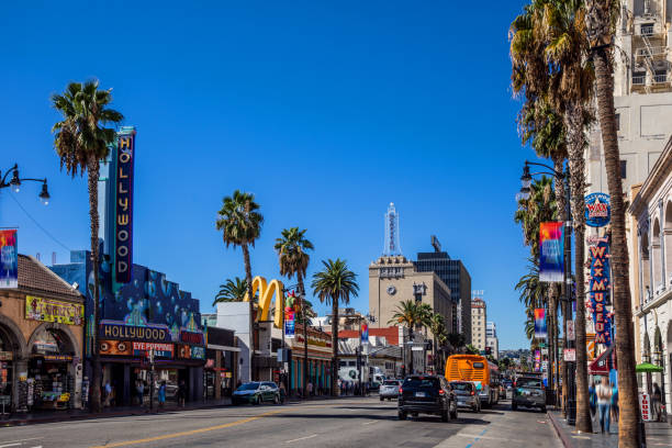 Hollywood Boulevard - Hollywood in Los Angeles - USA Hollywood Boulevard - Hollywood in Los Angeles - USA hollywood boulevard stock pictures, royalty-free photos & images