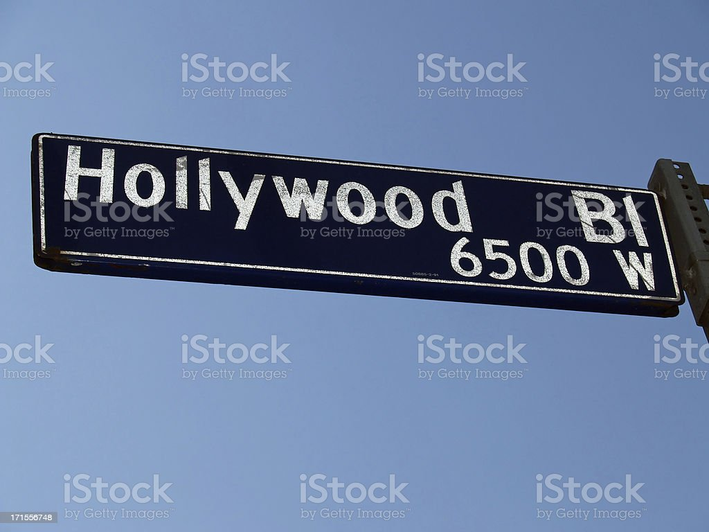 Hollywood Boulevard sign stock photo