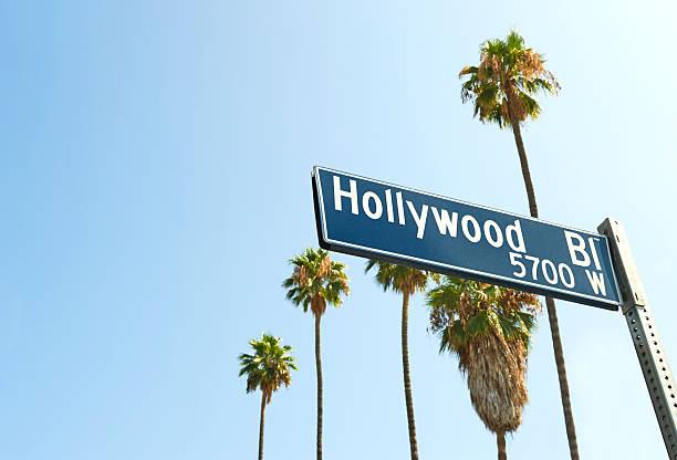 Hollywood Boulevard sign stock photo