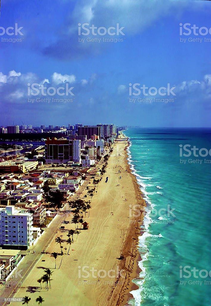 Hollywood Florida Coastline stock photo